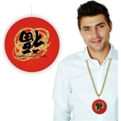 """Chinese New Year 33"""" Bead Necklaces by Windy City Novelties"""