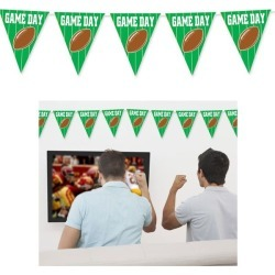 Game Day Football 12' Pennant Banner by Windy City Novelties