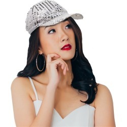 Silver Sequin Baseball Cap by Windy City Novelties found on Bargain Bro India from Windy City Novelties for $3.30