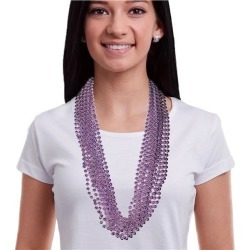 """Lavender 33"""" Bead Necklaces by Windy City Novelties"""