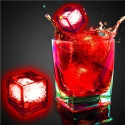 Red Liquid Activated Light Up Ice Cubes by Windy City Novelties