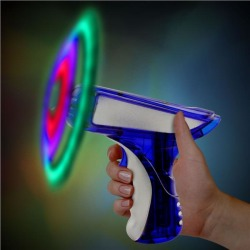 "Blue & Silver LED Spinning 6"" Toy Gun by Windy City Novelties"