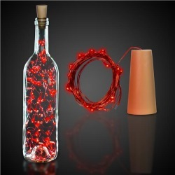 Red LED Cork String Light Set by Windy City Novelties