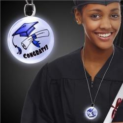LED Graduation Pendant Necklace by Windy City Novelties