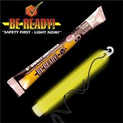 "Yellow Safety Be Ready 6"" Glow Stick by Windy City Novelties"
