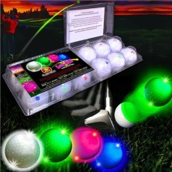 Assorted Color Novelty LED and Light - Up Golf Ball 12 Pack by Windy City Novelties