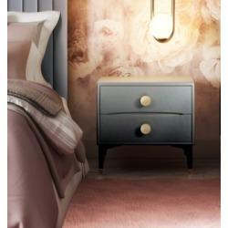 TOV Furniture Divine Nightstand, Gray