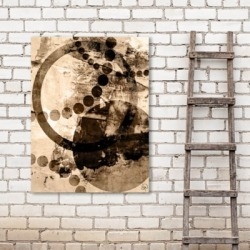 Spinning Crashing Plates 11X14 Metal Wall Art, Brown