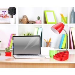 Home Accents LimeLights Gooseneck Organizer Desk Lamp w Device Holder, Red, Red found on Bargain Bro from Ashley Furniture for USD $22.03