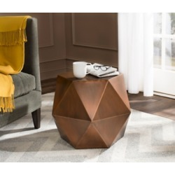 Safavieh Astrid Faceted Accent Table, Copper found on Bargain Bro from Ashley Furniture for USD $179.35