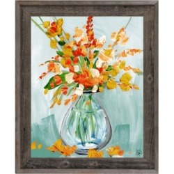 Floral Perfection Tiger 24X36 Barnwood Framed Canvas, Blue/Orange found on Bargain Bro India from Ashley Furniture for $199.99