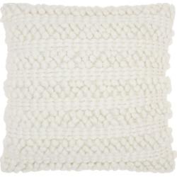 Modern Woven Stripes Life Styles White Pillow, White found on Bargain Bro India from Ashley Furniture for $35.99