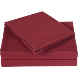 Microfiber Truly Soft Twin Sheet Set, Burgundy found on Bargain Bro Philippines from Ashley Furniture for $27.99