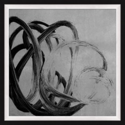 Giclee Silver Freeform Wall Art, Black/Gray found on Bargain Bro India from Ashley Furniture for $197.99