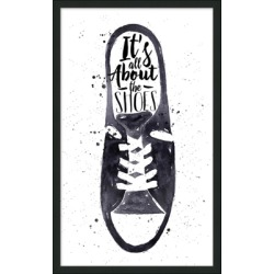 Giclee All About the Shoes Wall Art, Black/White found on Bargain Bro from Ashley Furniture for USD $69.91