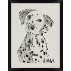 Giclee Dalmatian Wall Art, Black/White found on Bargain Bro India from Ashley Furniture for $67.00