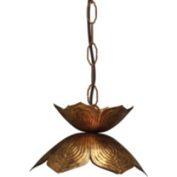 Flowering Lotus Pendant - Small, Gold found on Bargain Bro India from Ashley Furniture for $214.99
