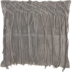 Modern Macrame Fring Tassel Couture Pillow, Ash Gray found on Bargain Bro India from Ashley Furniture for $112.99