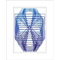Giclee Equation 2 Wall Art, Blue/White found on Bargain Bro India from Ashley Furniture for $118.99