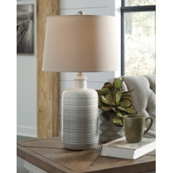 Marnina Table Lamp (Set of 2), Taupe found on Bargain Bro from Ashley Furniture for USD $72.19
