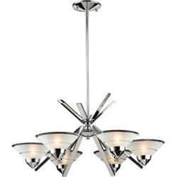 Refraction Collection Chandelier, Polished Chrome found on Bargain Bro from Ashley Furniture for USD $261.43