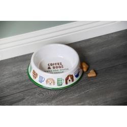 TarHong Coffee And Dogs Pet Bowl, Medium, 9