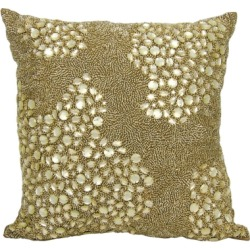 Modern Fully Beaded Luminescence Light Gold Pillow, Gold found on Bargain Bro India from Ashley Furniture for $75.99