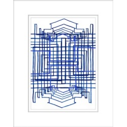 Giclee Equation 1 Wall Art, Blue/White found on Bargain Bro India from Ashley Furniture for $118.99