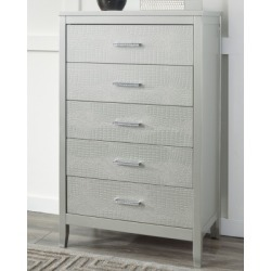 Olivet Chest of Drawers, Silver