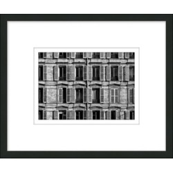 Giclee Building Façade Wall Art, Black/White found on Bargain Bro India from Ashley Furniture for $269.99