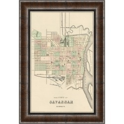 Giclee Savannah Map Wall Art, Black/Gray found on Bargain Bro Philippines from Ashley Furniture for $139.99