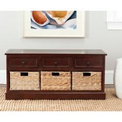 Safavieh Damien 3 Drawer Storage Bench, Dark Cherry found on Bargain Bro from Ashley Furniture for USD $231.79