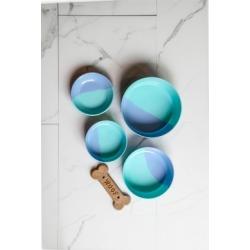 TarHong Dual Pet Saucer, Blue, 5.2