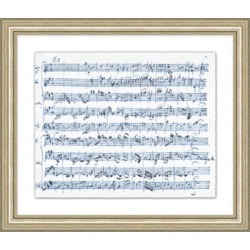 Giclee Sheet Music Wall Art, Blue/White found on Bargain Bro India from Ashley Furniture for $138.99
