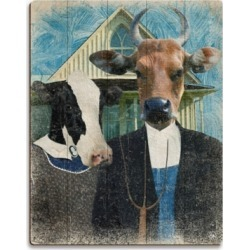 Gothic Cows Alpha 20X30 Wood Plank Wall Art, Multi found on Bargain Bro India from Ashley Furniture for $189.99