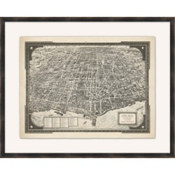 Giclee Grand Map Wall Art, Black/Gray found on Bargain Bro from Ashley Furniture for USD $154.27