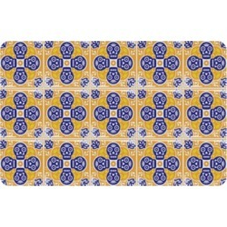 "Home Accents Premium Comfort 1'10"" x 2'7"" Mexican Tile Mat, Yellow"