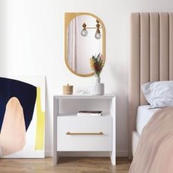 TOV Furniture Libre Nightstand, White