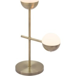 Waterloo Mid Century Table Lamp, White/Brushed Bronze found on Bargain Bro from Ashley Furniture for USD $203.67