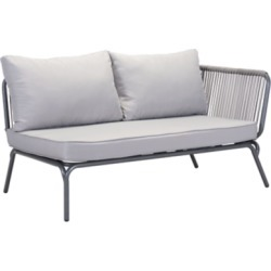 Patio Right Arm Facing Double Seat, Gray