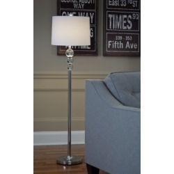 Joaquin Floor Lamp, Clear/Chrome Finish found on Bargain Bro India from Ashley Furniture for $70.99