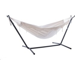 Patio Double Hammock with Stand, Natural