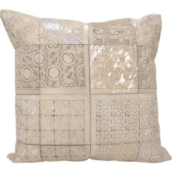 Modern Laser Cut Tiles Couture Pillow, Ivory/Silver found on Bargain Bro India from Ashley Furniture for $81.99