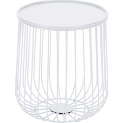 Patio Side Table, White
