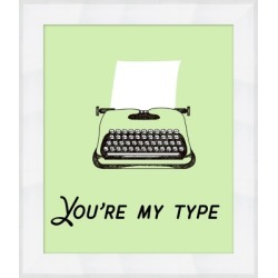 Giclee You're My Type Wall Art, Black/Green found on Bargain Bro India from Ashley Furniture for $129.99