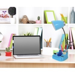 Home Accents LimeLights Gooseneck Organizer Desk Lamp w Device Holder, Blue, Blue found on Bargain Bro from Ashley Furniture for USD $22.03
