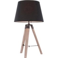 Mid Century Modern Table Lamp, Gray Wash/Black