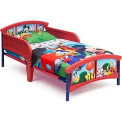 Delta Children Disney Mickey Mouse Plastic Toddler Bed, Red