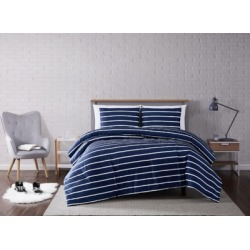 Striped 3-Piece King Comforter Set, Navy found on Bargain Bro Philippines from Ashley Furniture for $79.99