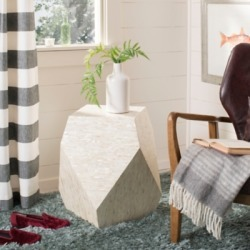 Safavieh Lea Mosaic Geom Accent Table, Multi/Light Beige found on Bargain Bro from Ashley Furniture for USD $144.39